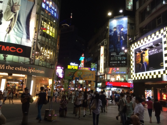 Ximending in Taipei. Hopefully, the streets will soon be engulfed in Asian Games celebration.